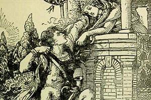 Rapunzel from Grimm's Fairy Tales Illustrated by Walter Crane