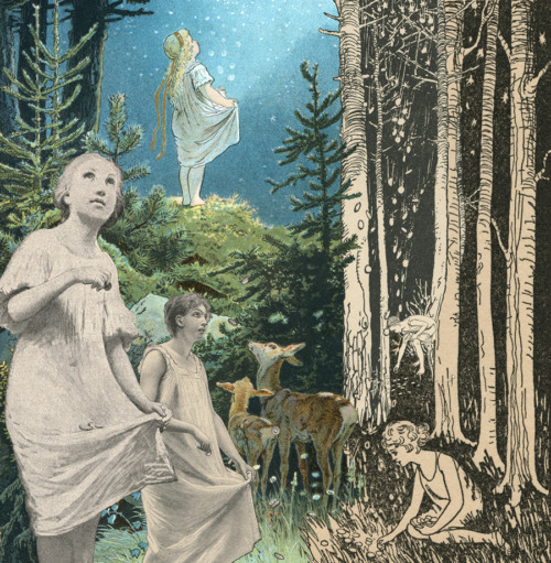 Grimms Fairy Tales-Illustration-Collage