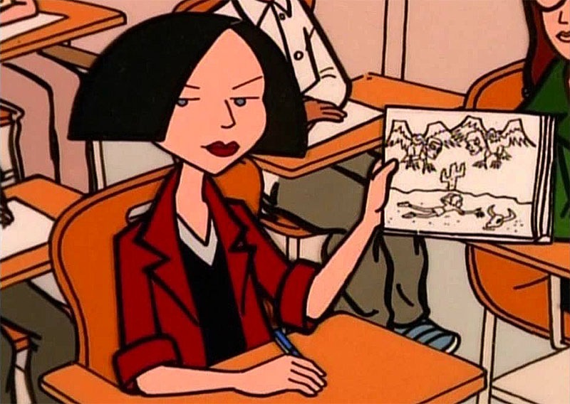 Jane Lane from Daria, created by Glenn Eichler and Susie Lewis Lynn for MTV