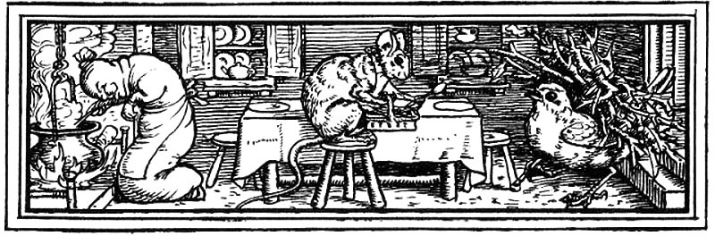 Mouse Bird Sausage by Walter Crane