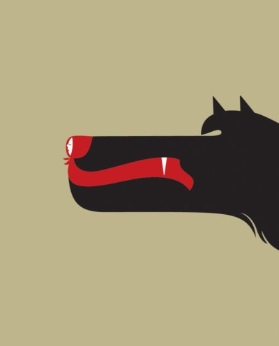 Little Red Riding Hood by Noma Bar