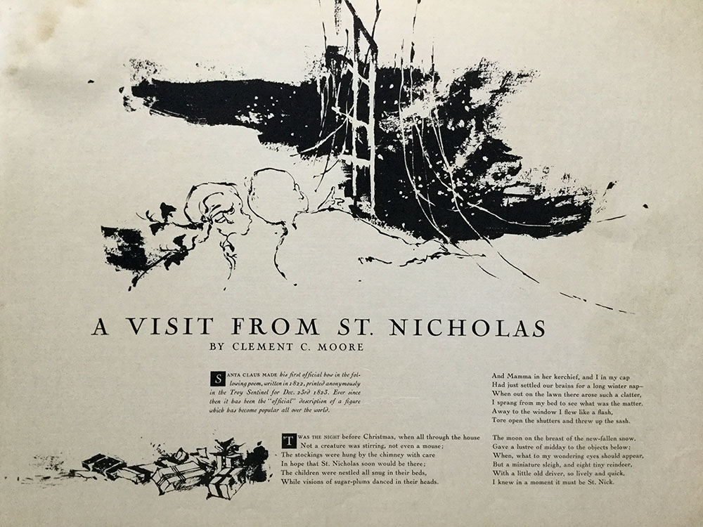 A Visit from St. Nicholas, USA